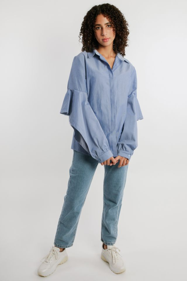 Ruffled Sleeves Shirt