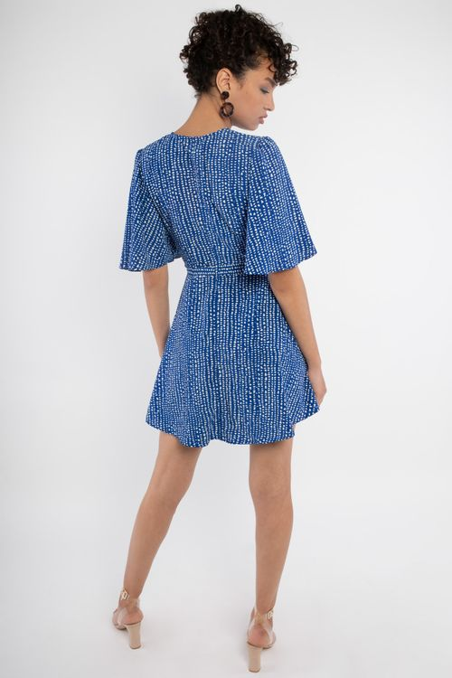 Printed bow dress smithes