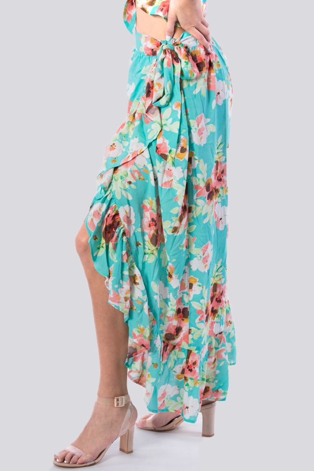 Casual Long Skirt Floral