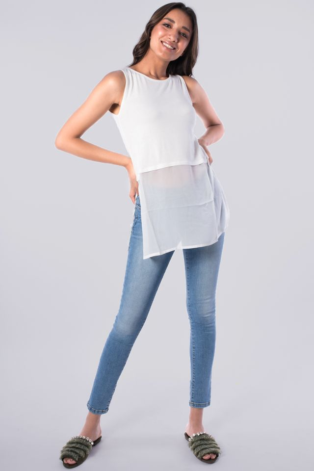 Casual Top Sleeveless Plain
