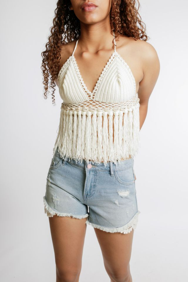 Limited Edition Crotchet Shell Top