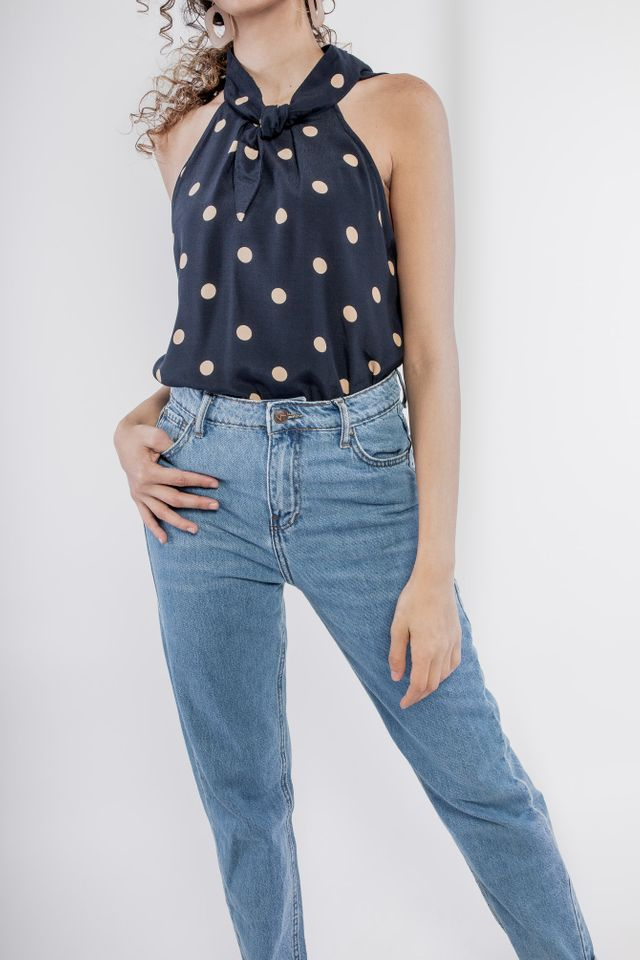 Bow polka-dot top Roberts