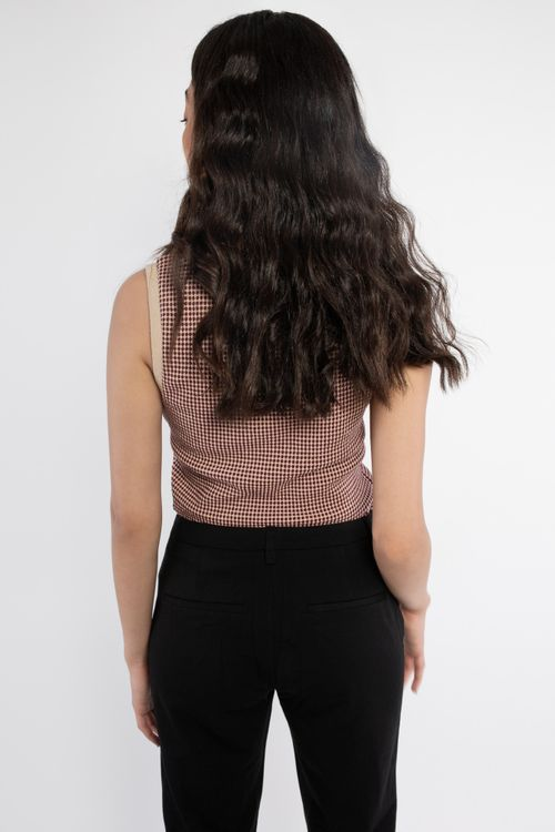 Jacquard knitted top